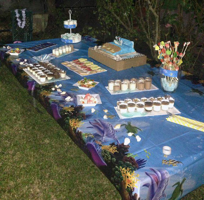 שולחן מעוצב הכחול הגדול 3