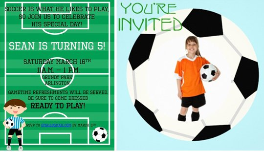 רעיונות ליום הולדת כדורגל - הזמנות