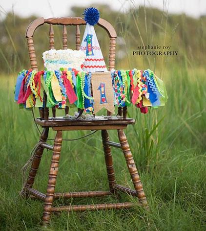 רעיונות לקישוט כיסא יום הולדת - סרטי בד