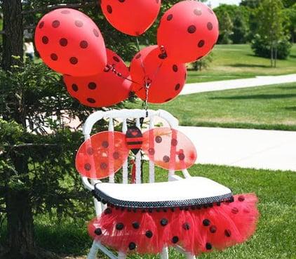 רעיונות לקישוט כיסא יום הולדת - לידי חיפושית