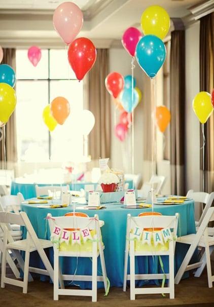 רעיונות לקישוט כיסא יום הולדת - שרשרת דגלים אישית