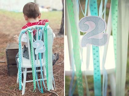 רעיונות לקישוט כיסא יום הולדת - סרטי סאטן