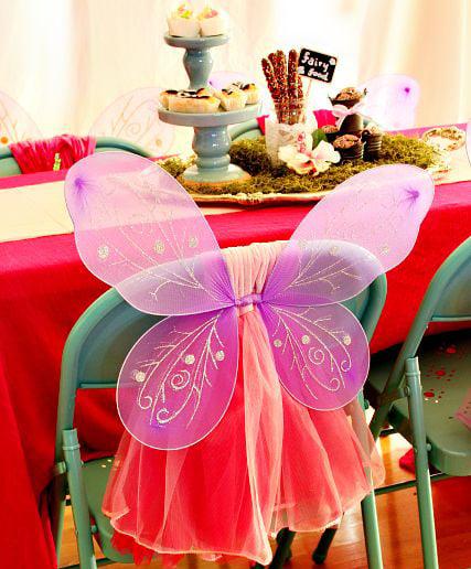 רעיונות לקישוט כיסא יום הולדת - כנפי פיה