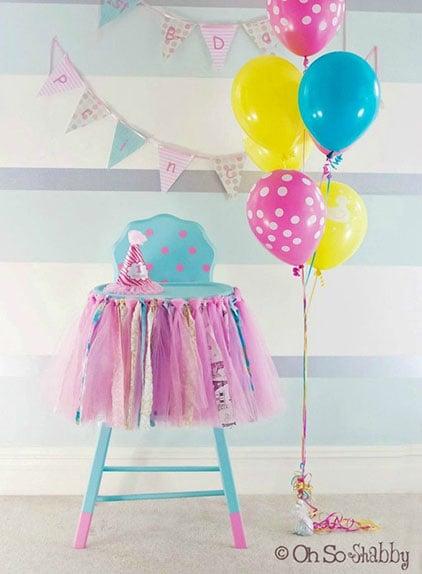 רעיונות לקישוט כיסא יום הולדת