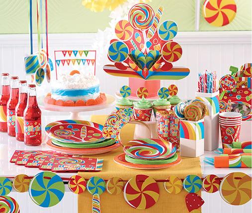 רעיונות ליום הולדת 10 - מסיבת ממתקים
