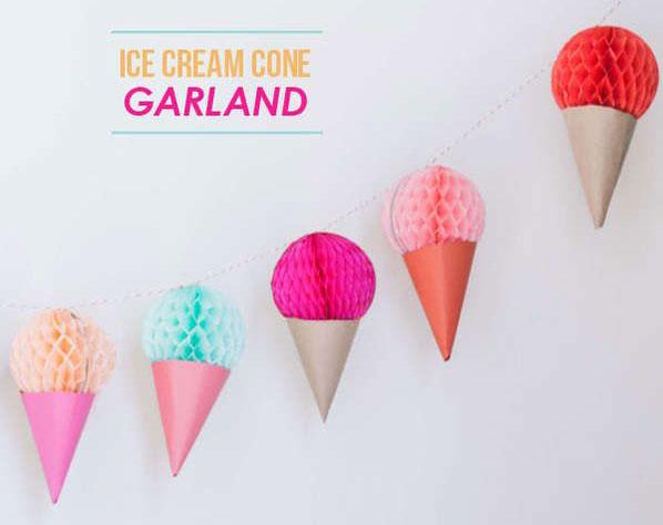 שרשרת גלידות למסיבת קיץ