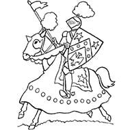 דפי צביעה ליום הולדת אבירים