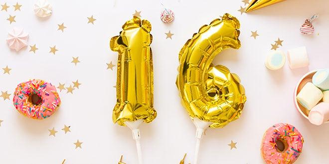 רעיונות ליום הולדת 16 המתוק