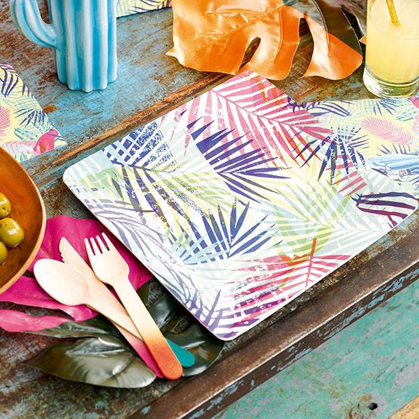 צלחות חד פעמיות מנייר פייסטה קובנית
