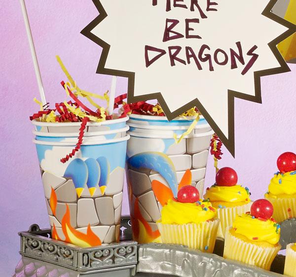 כוסות נייר יום הולדת דרקונים