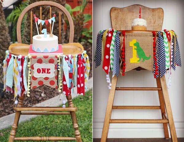 יום הולדת ראשון - קישוט לכיסא גבוה