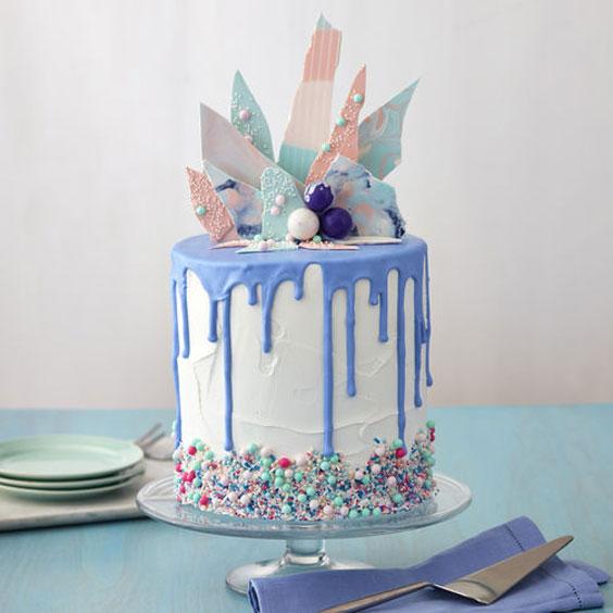 טרנדים בקישוט עוגות - עוגות שברים