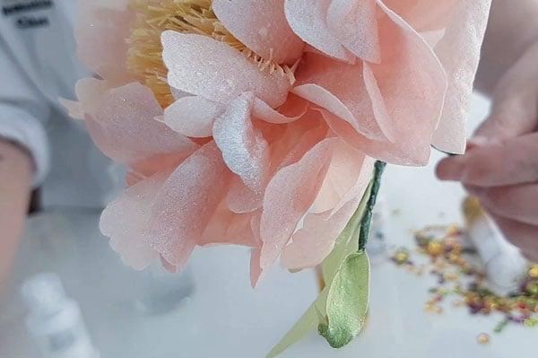 אבקת פיות נוצצת לקישוט קינוחים - קישוט פרחים