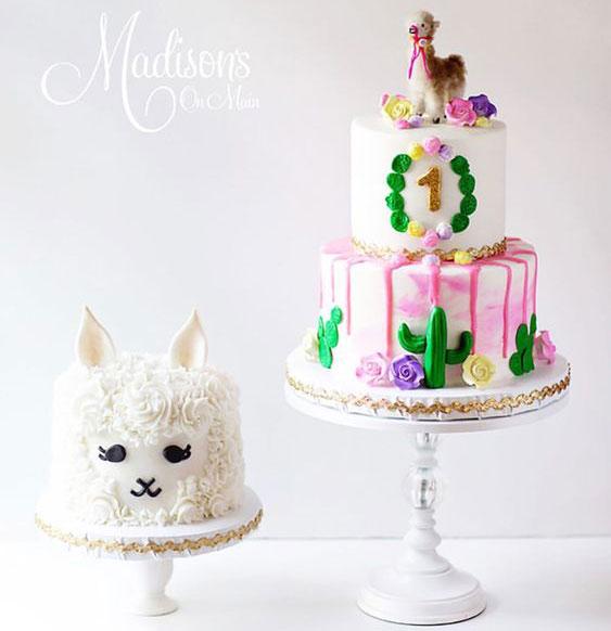מסיבת לאמה עוגת לאמה