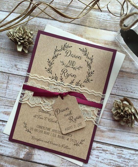 עיצוב חתונה וינטאג'ית - הזמנות לחתונה