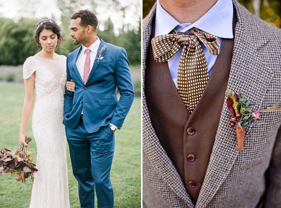 עיצוב חתונה וינטאג'ית - החתן