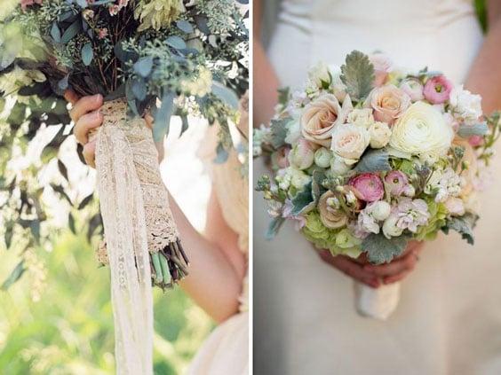 עיצוב חתונה וינטאג'ית - זר כלה