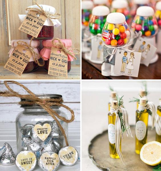 עיצוב חתונה וינטאג'ית - מתנות לאורחים