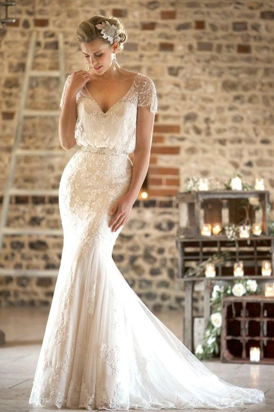 עיצוב חתונה וינטאג'ית - שמלת כלה