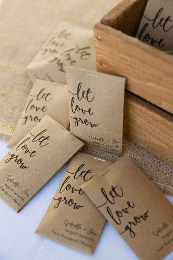 מתנות יצירתיות לאורחים בחתונה - זרעים