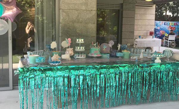 נויה חוגגת 5 במסיבת בת הים - עיצוב שולחן