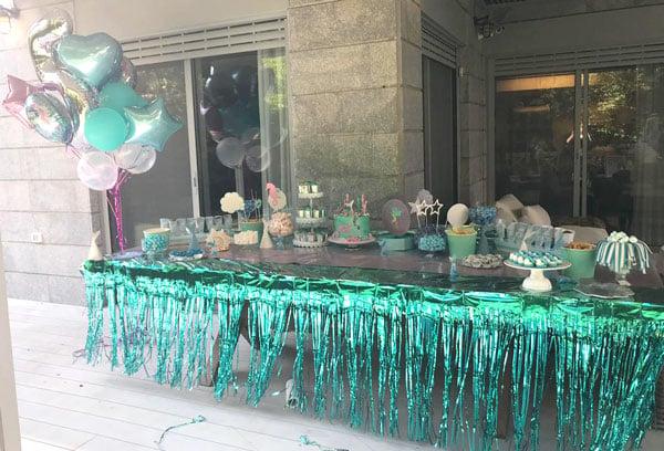 נויה חוגגת 5 במסיבת בת הים - שולחן מעוצב