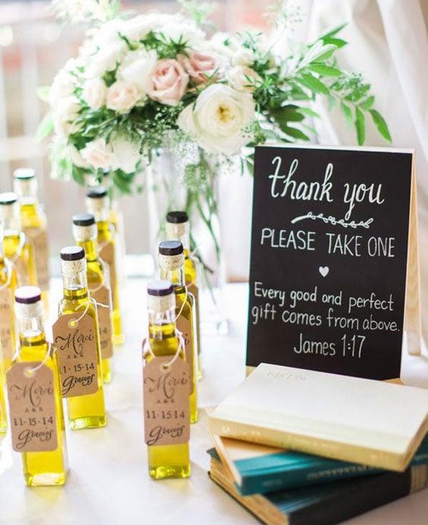 מתנות יצירתיות לאורחים בחתונה - שמן זית