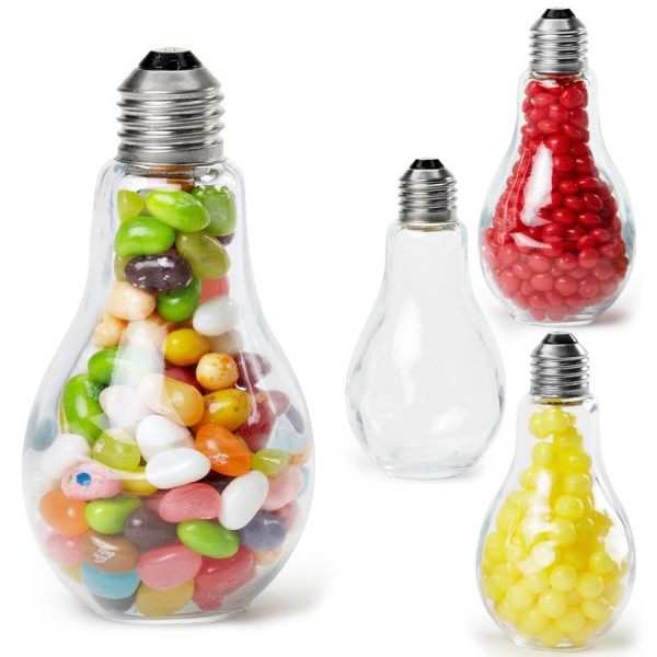 מתנות יצירתיות לאורחים בחתונה - נורות ממתקים