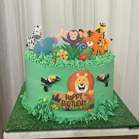 יום הולדת הרפתקאה בספארי - עוגת יום הולדת