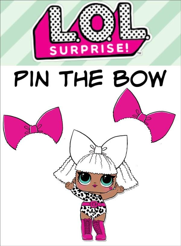 רעיונות ליום הולדת LOL Surprise - משחק נעץ את הפפיון