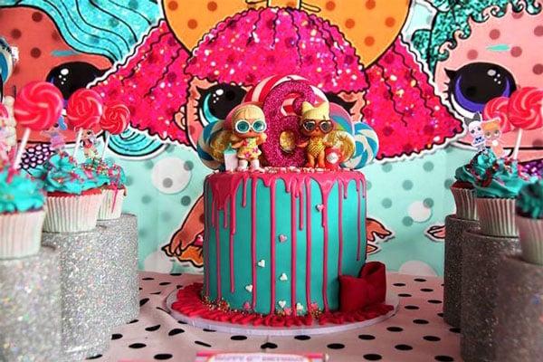 רעיונות ליום הולדת LOL Surprise - עוגת יום הולדת
