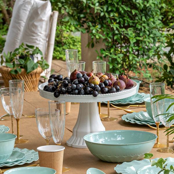 סט כלים חד פעמיים מיאמי מנטה - מרכז שולחן