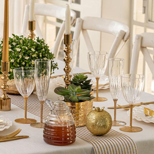 עיצוב שולחן ראש השנה - תפוחים ודבש