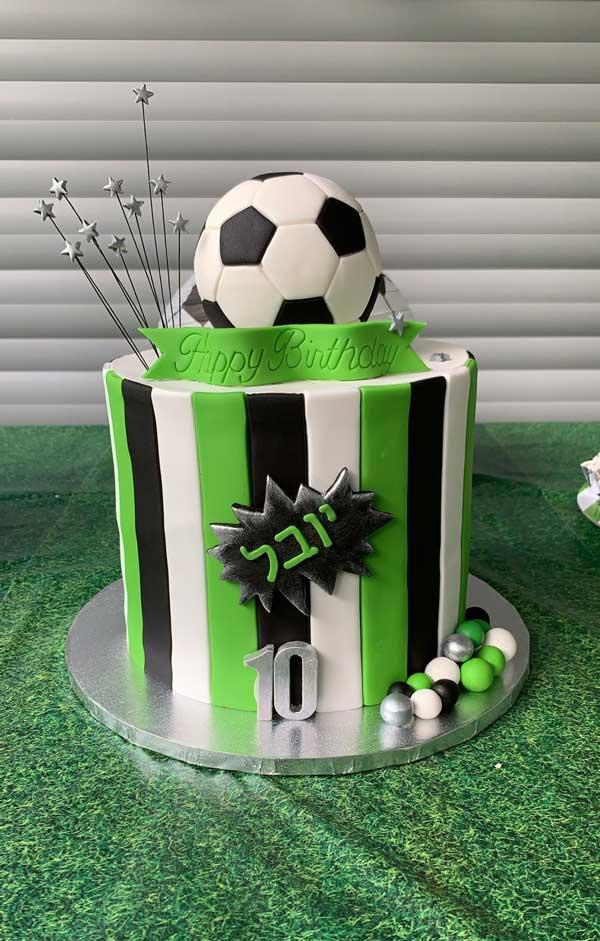 יום הולדת כדורגל - עוגת יום הולדת