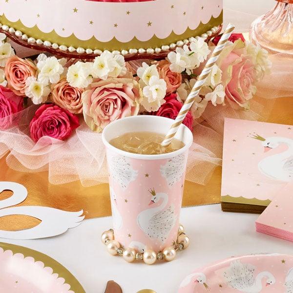 מסיבת ברבור לבן - כוסות נייר חד פעמיות