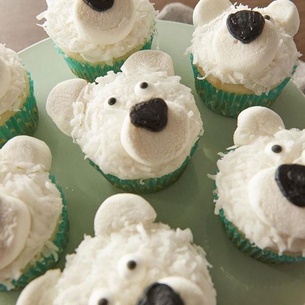 סוכריות לקישוט בצורת עיניים - דוב קוטב