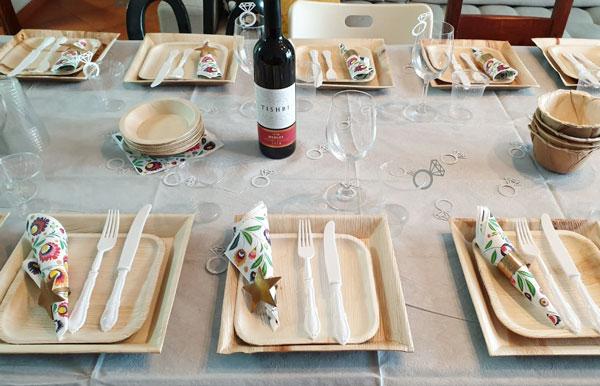 יום נישואין - שולחן מעוצב