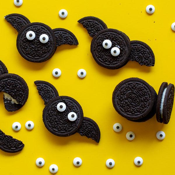 סוכריות לקישוט בצורת עיניים - עוגיות עטלף