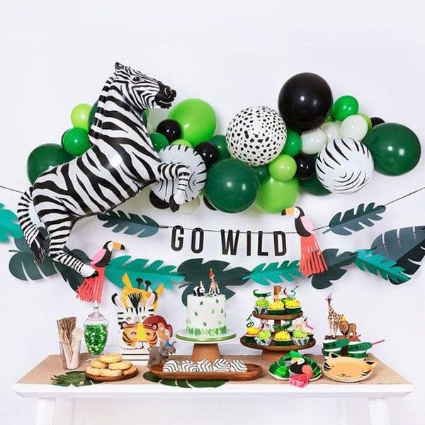 10 מוצרים לעיצוב מסיבת ספארי - בלונים בצורת חיות