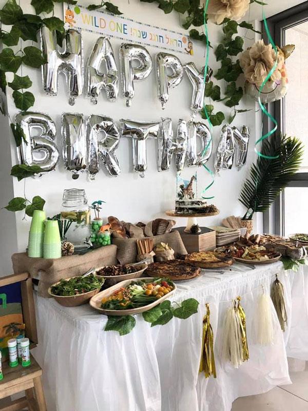 מסיבת ספארי - עיצוב שולחן