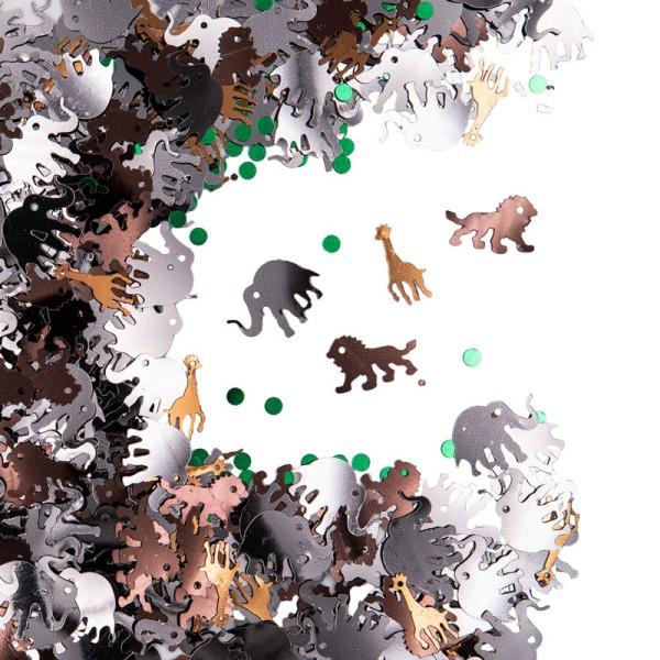 10 מוצרים לעיצוב מסיבת ספארי - קונפטי חיות ספארי