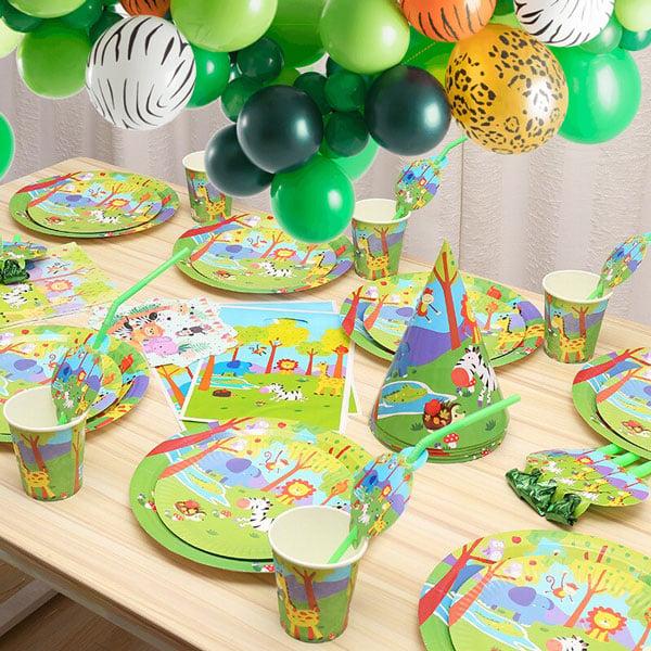 10 מוצרים לעיצוב מסיבת ספארי - ערכת יום הולדת חגיגה בג'ונגל