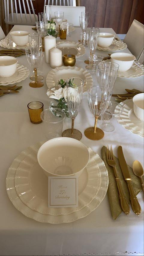 שולחן מעוצב ליום הולדת 27 - עיצוב שולחן