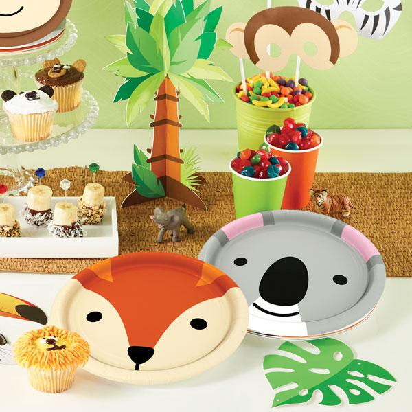 יום הולדת חיות מסיבה צלחות חד פעמיות