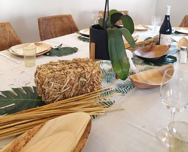 עיצוב שולחן חג שבועות - חציר ושיבולים