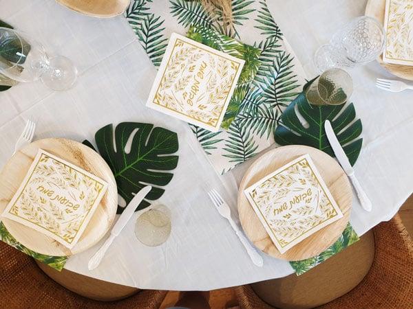 עיצוב שולחן חג שבועות - מבט על